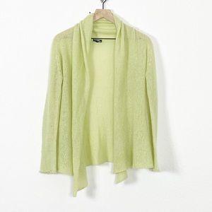 Wooden Ships Green Mohair Blend Cardigan Sweater